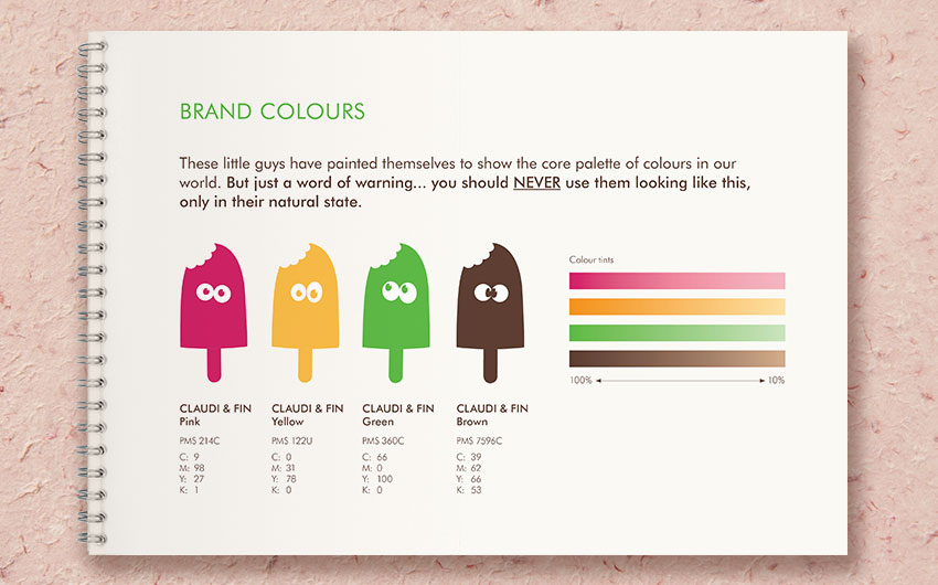 Claudi & Fin brand guidelines