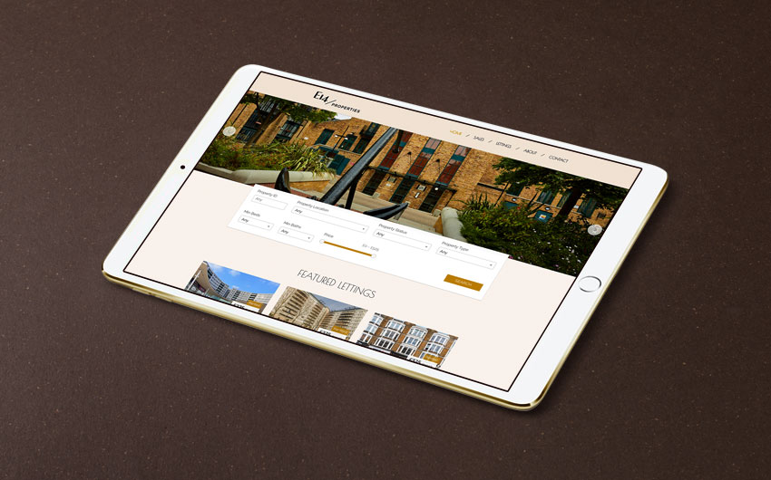 E14 Properties website design