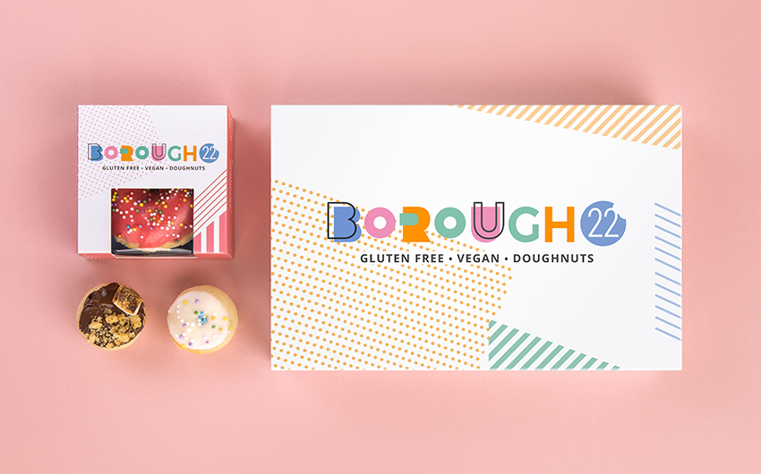 Borough 22 brand identity and packaging