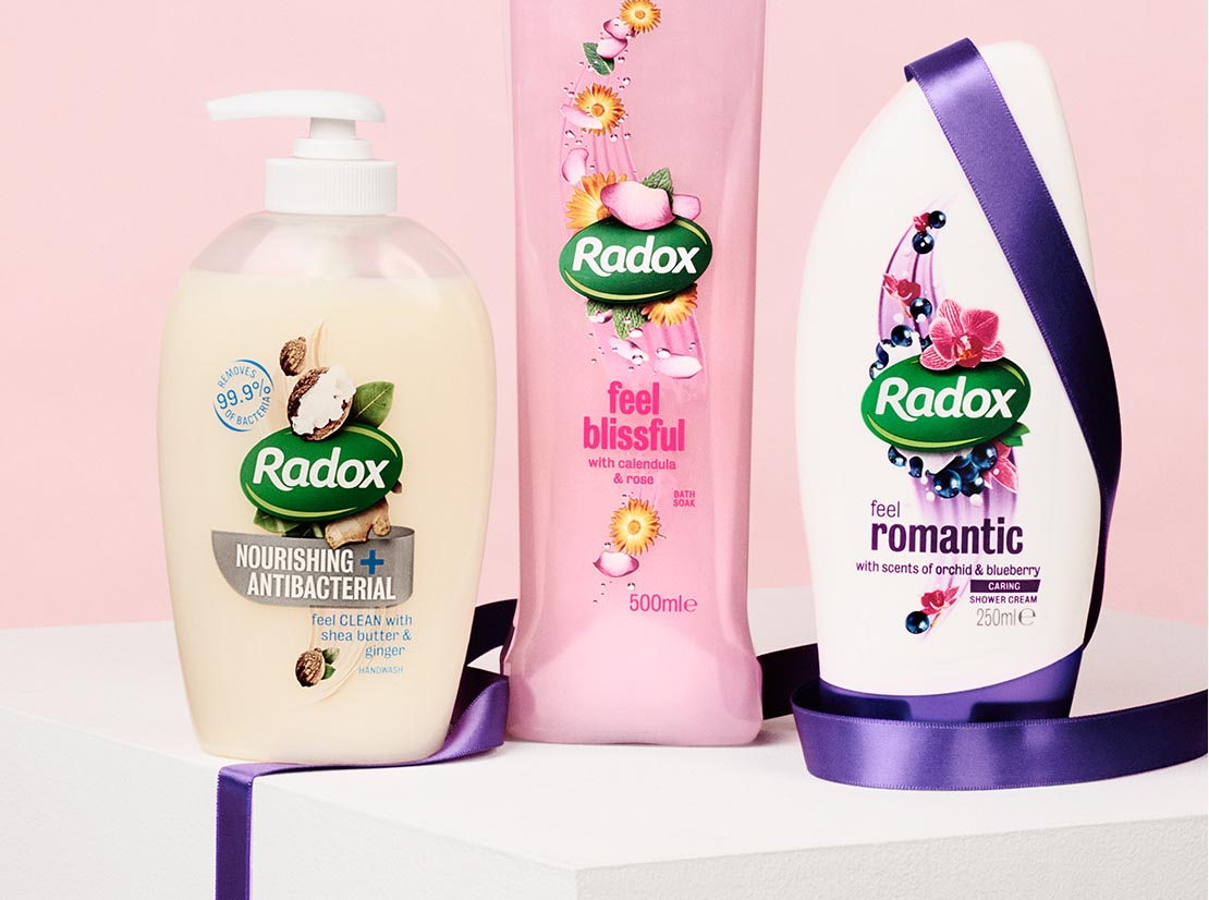 Radox packaging redesign